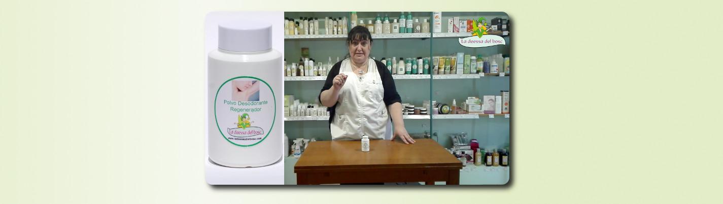 Desodorante reparador en polvo