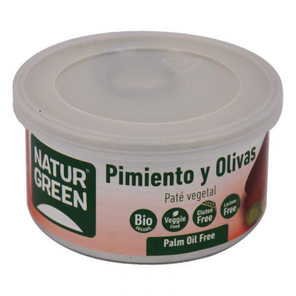 paté vegetal pimiento y olivas Naturgreen 125 g